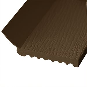 "#2591 18 FT Brown 3-1 / 4"" Wide, 1 / 2"" Thick Vinyl Door Stop (P5) X 10 Pcs"