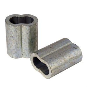 3 / 8 X 100 Pcs Zinc Plated Copper Sleeves